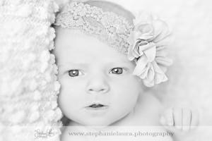 awake newborn black and white