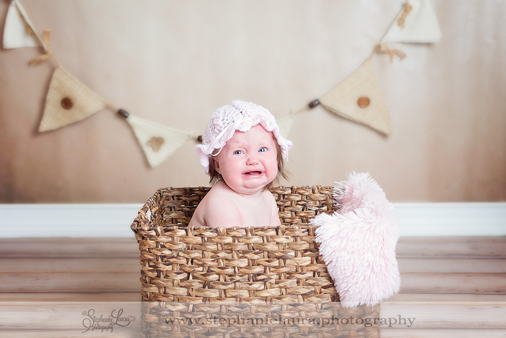 crying 6 month old in basket pittsburgh